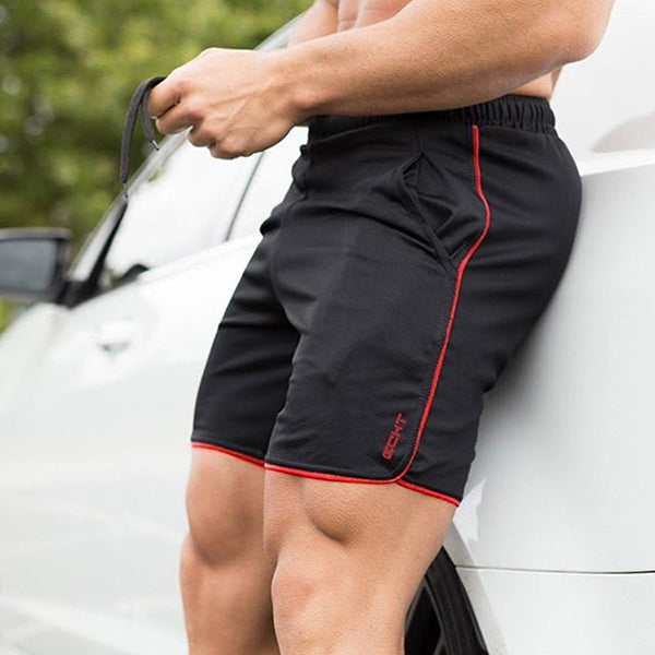 Casual Men's Elastic Waist Sport Shorts