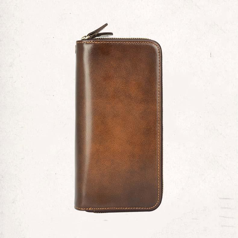 Men Leather Vintage Purse Wallet