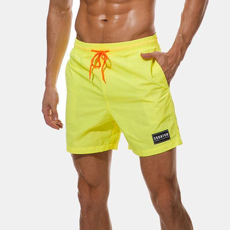 Casual Elastic Waist Beach Swimming Shorts