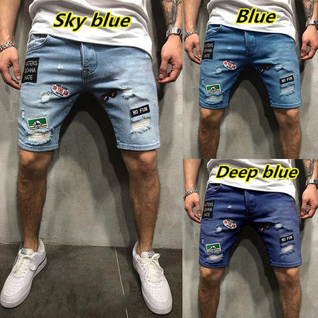 Men's Fashion Hollow Printed Jeans