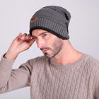 Fashion Men Labeling Hand Knitting Hats