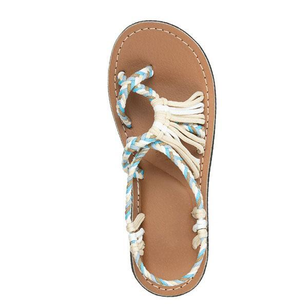 Summer Multi-Color Lace-up Beach Sandals