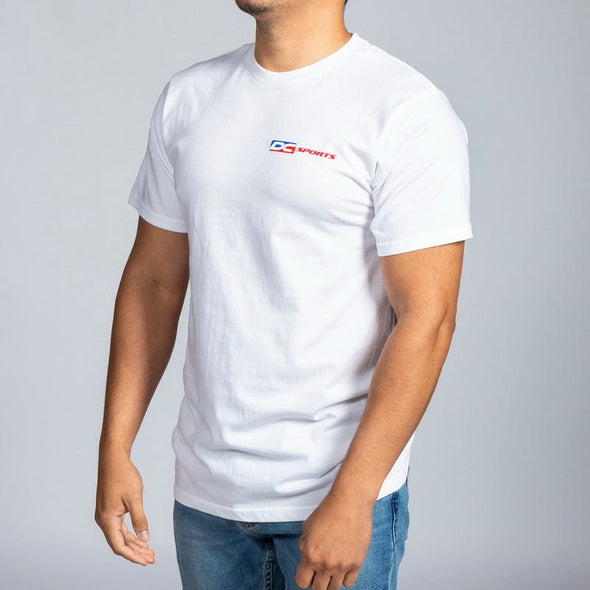 White DC Colored Logo T-Shirt