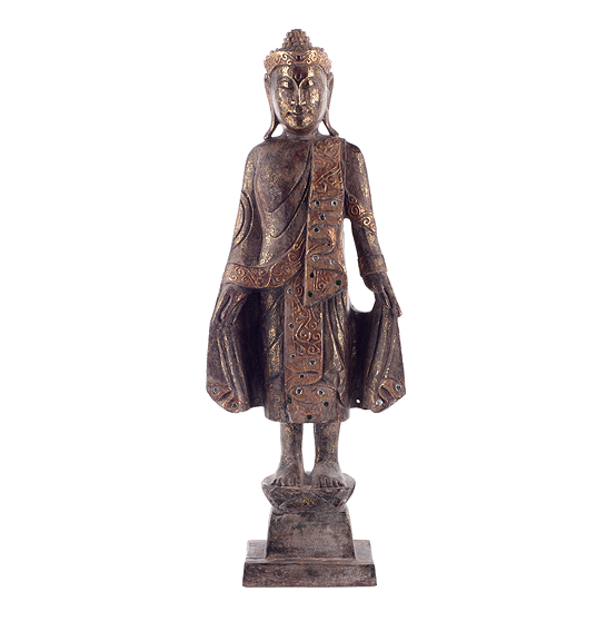 Thai Style Buddha, Antique Gold