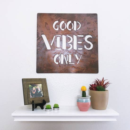 Good Vibes Metal Sign