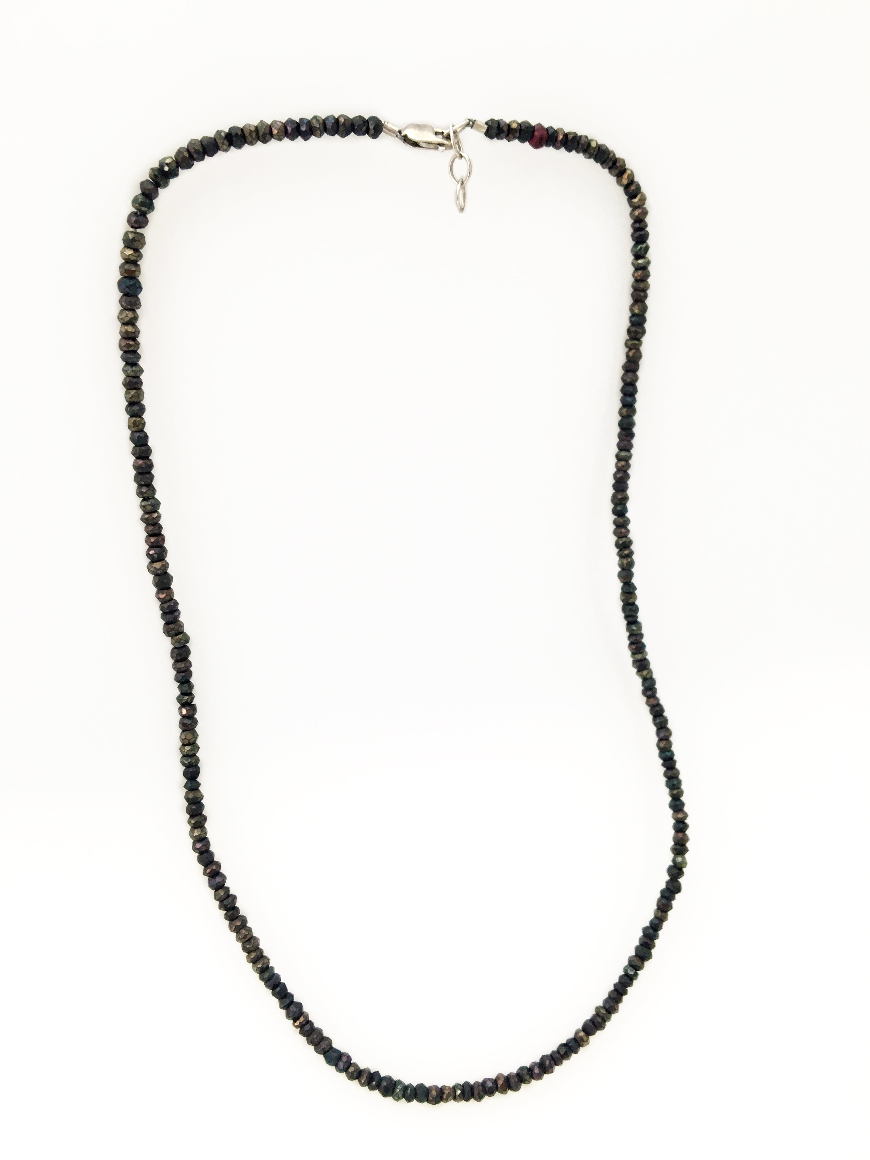 Brown Faceted Spinel Necklace