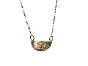 Oxidized Sterling Silver & 18k Gold Necklace