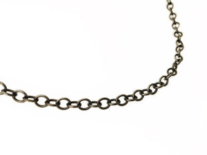 "Oxidized Sterling Silver 36"" Necklace"