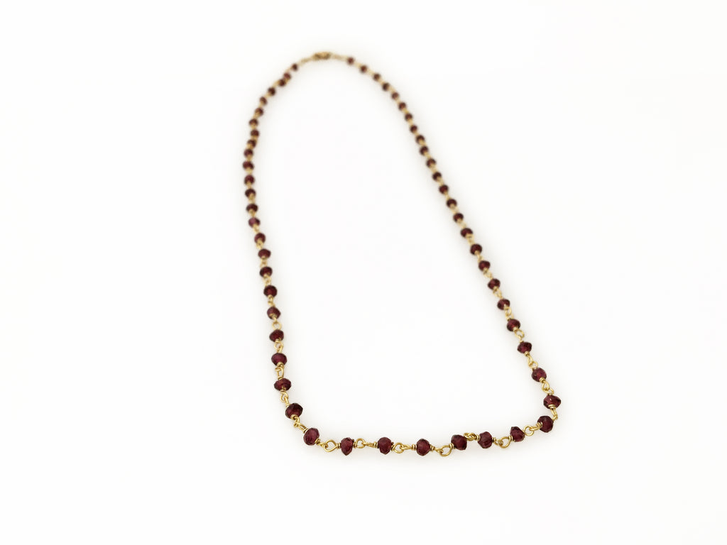 Vermeille & Garnet necklace