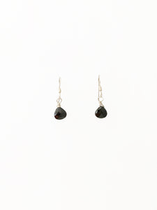 Sterling Silver & Black Spinel Earrings