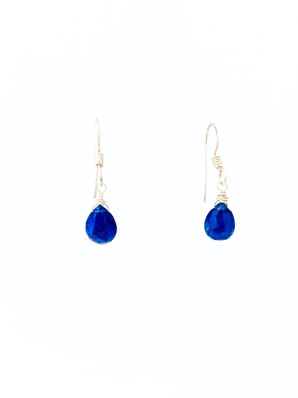 Sapphire & Sterling Silver Earrings