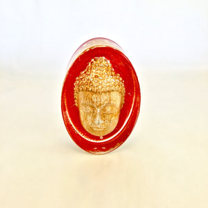 Red Buddha - Oval Spirit Weights