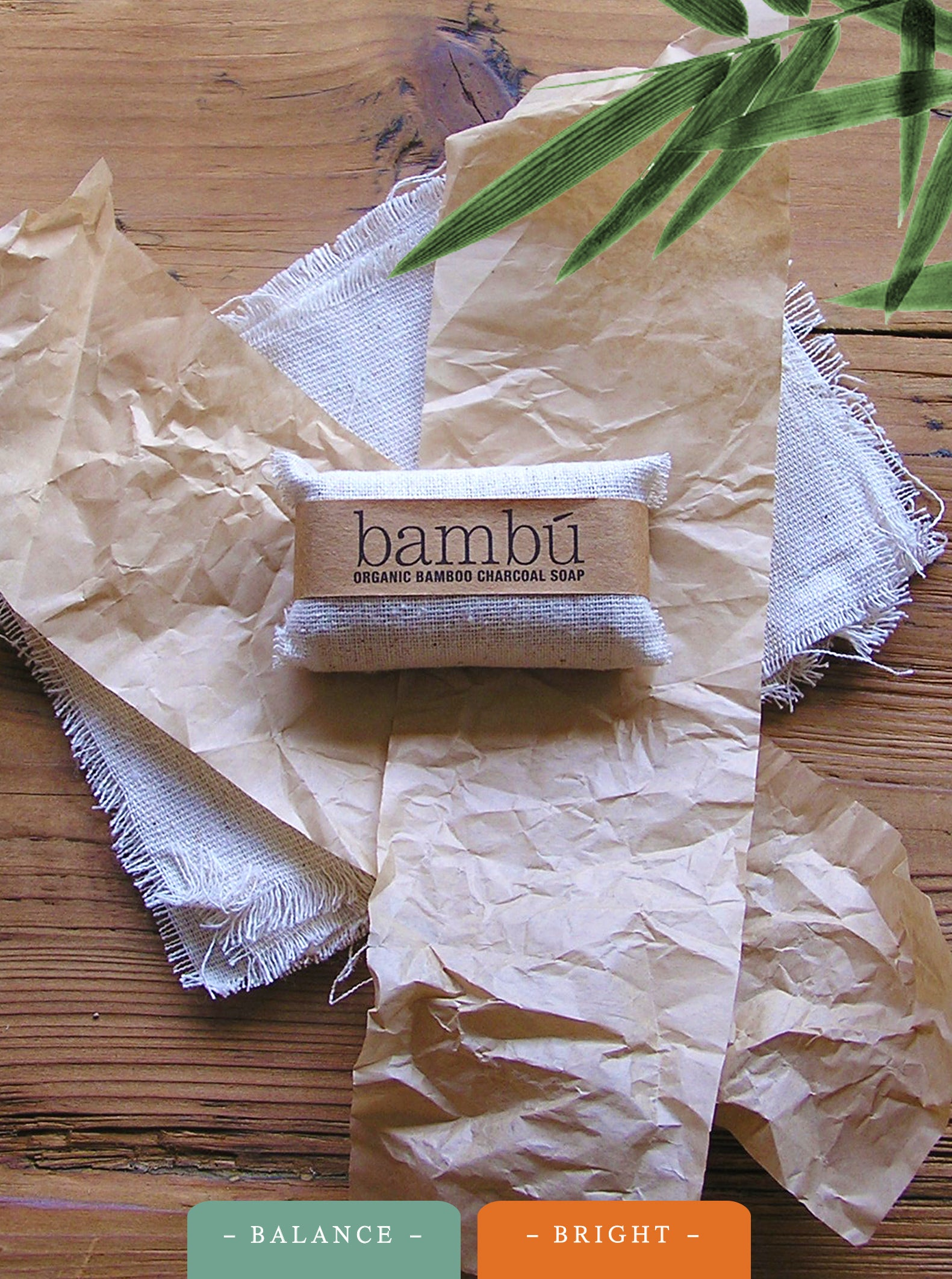 """Balance"" Face Bar 2oz bambú Charcoal Soap"