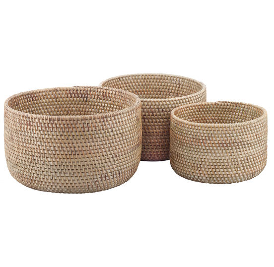 Nesting Bowls in Cinnamon, Set of 3