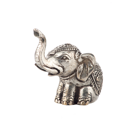 Wee Shiny Sitting Elephant