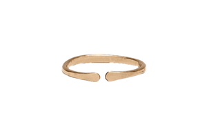 open ring, 14k yellow gold fill