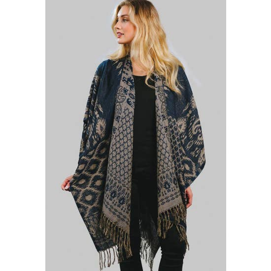 Sajani Wool and Cotton Poncho