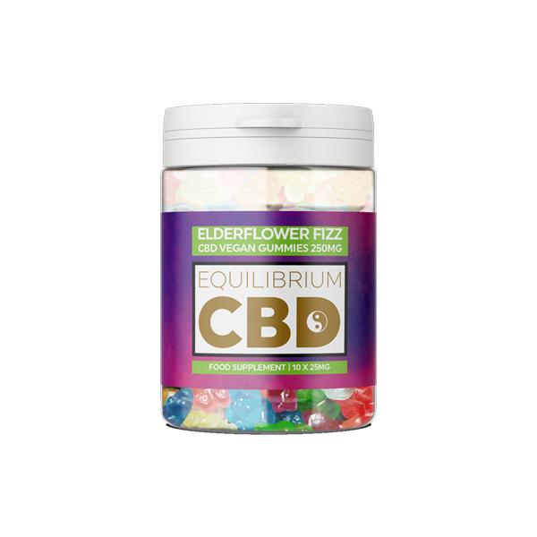 Equilibrium CBD 250mg CBD Vegan Gummy Bears - Elderflower Fizz