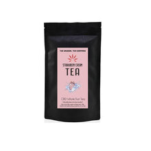 Load image into Gallery viewer, The Unusual Tea Company 3% CBD Hemp Tea - Strawberry Cream 40g