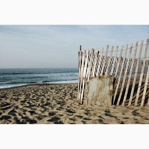 Metal Print - Beach Fence
