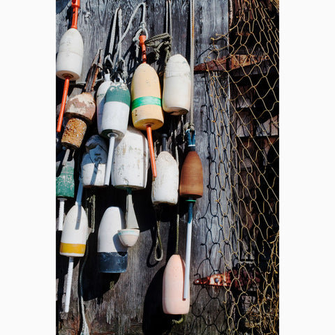 Metal Print - Fishing Net & Buoys
