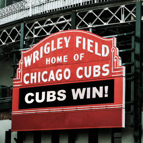 Metal Print - Chicago Wrigley Field