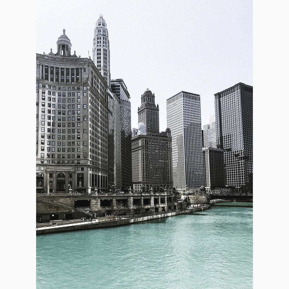 Metal Print - Chicago Riverview II