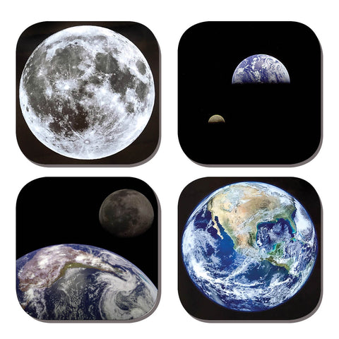 Coaster Set - Earth & Moon