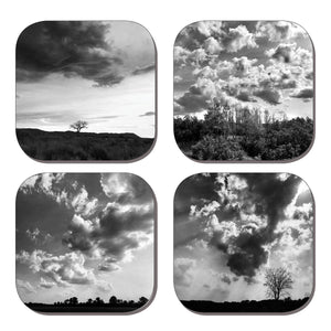 Coaster Set - Vast Skies Black & White