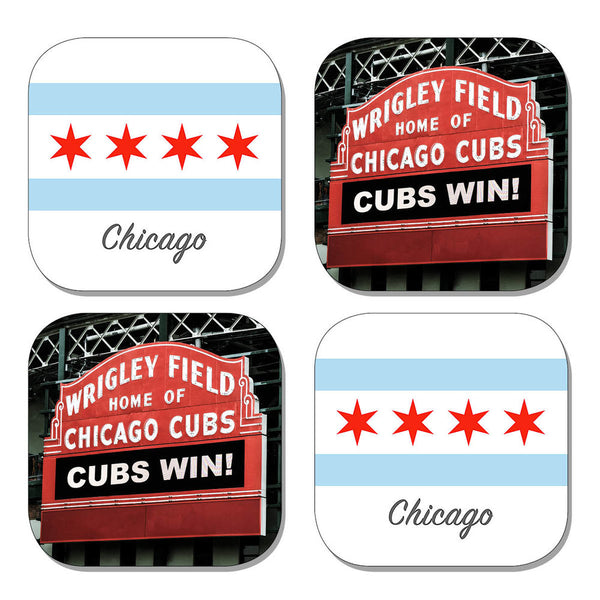 Coaster Set - Chicago Field & Flag