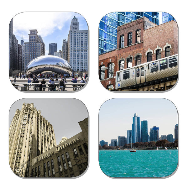 Coaster Set - Chicago City Scenes