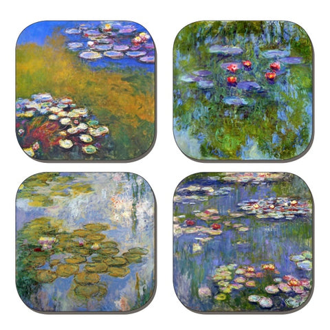 Coaster Set - Monet's Water Lilies