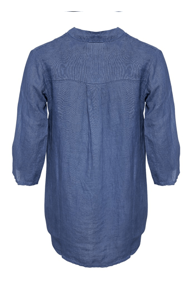 17661 Shirt Linen - Tiffany - Denim Blue - Skjorter - porteagauche