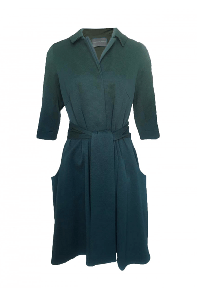 BIG POCKET DRESS JACKET - BØGELUND-JENSEN - GREEN - Kjole - porteagauche