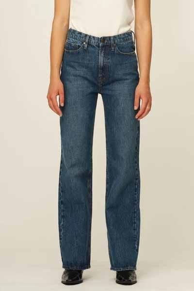 Brown Straight Jeans - Tomorrow - Bright Orlando - Jeans - porteagauche