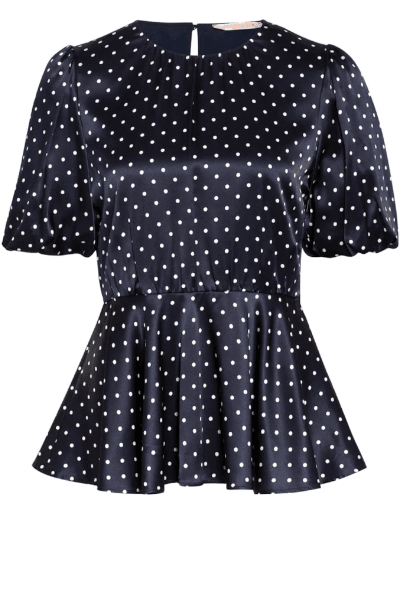 Capua Top - Penny Black - Blue Dot - Bluser - porteagauche