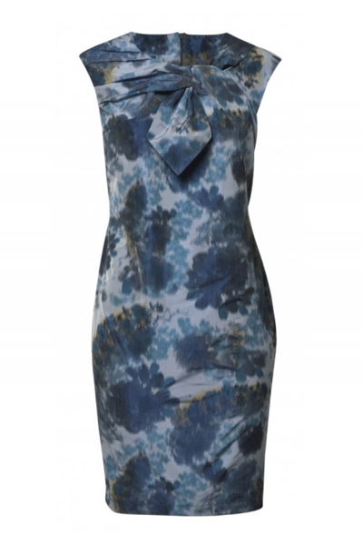 DRAPED TIE KNOT DRESS - BØGELUND-JENSEN - WATER FLOWER - Kjole - porteagauche