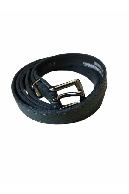 Kirsten Schjønning - Gun Buckle Belt 1517 - Green Leather - Bælter - porteagauche