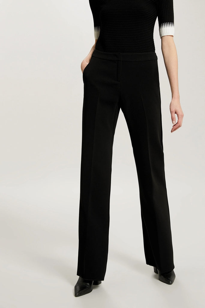 Penny Black - Lampo long Trouser - Black - Bukser - porteagauche