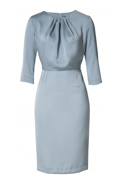Present Neck Layer Dress - Bøgelund-Jensen - Dove Blueish - Kjole - porteagauche
