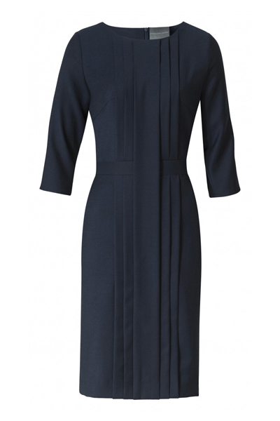 Present Pleated Dress - Bøgelund-Jensen - Navy - Kjoler - porteagauche