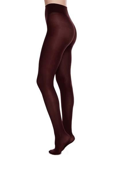 Swedish Stockings - Olivia Premium Tights - Bordeaux - strømpebukser - porteagauche