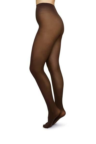 Swedish Stockings - Olivia Premium Tights - Dark Brown - strømpebukser - porteagauche