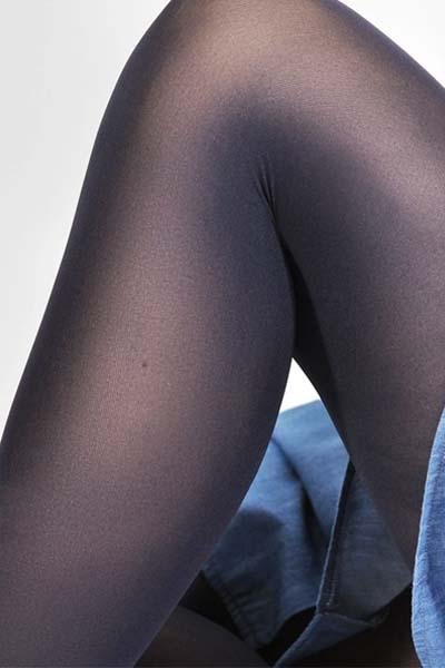 Swedish Stockings - Olivia Premium Tights - Navy - strømpebukser - porteagauche