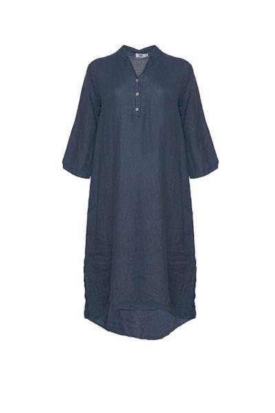 Tiffany - 18970 X Long Shirt Dress - Denim Blue - Kjoler - porteagauche