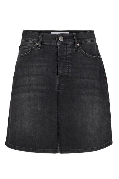 Tomorrow - Mandela Denim Skirt - Original Black - Nederdele - porteagauche