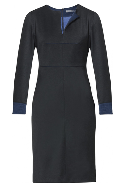 TT Dress - Bøgelund-Jensen - Black/blue - Kjoler - porteagauche