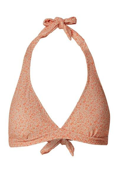 Viola Sky - Miss Blossom Bikini Top - Orange / Gold - Badetøj - porteagauche