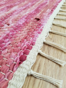 Berry Flannel Rag Rug