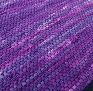 Violet Cotton Rag Rug